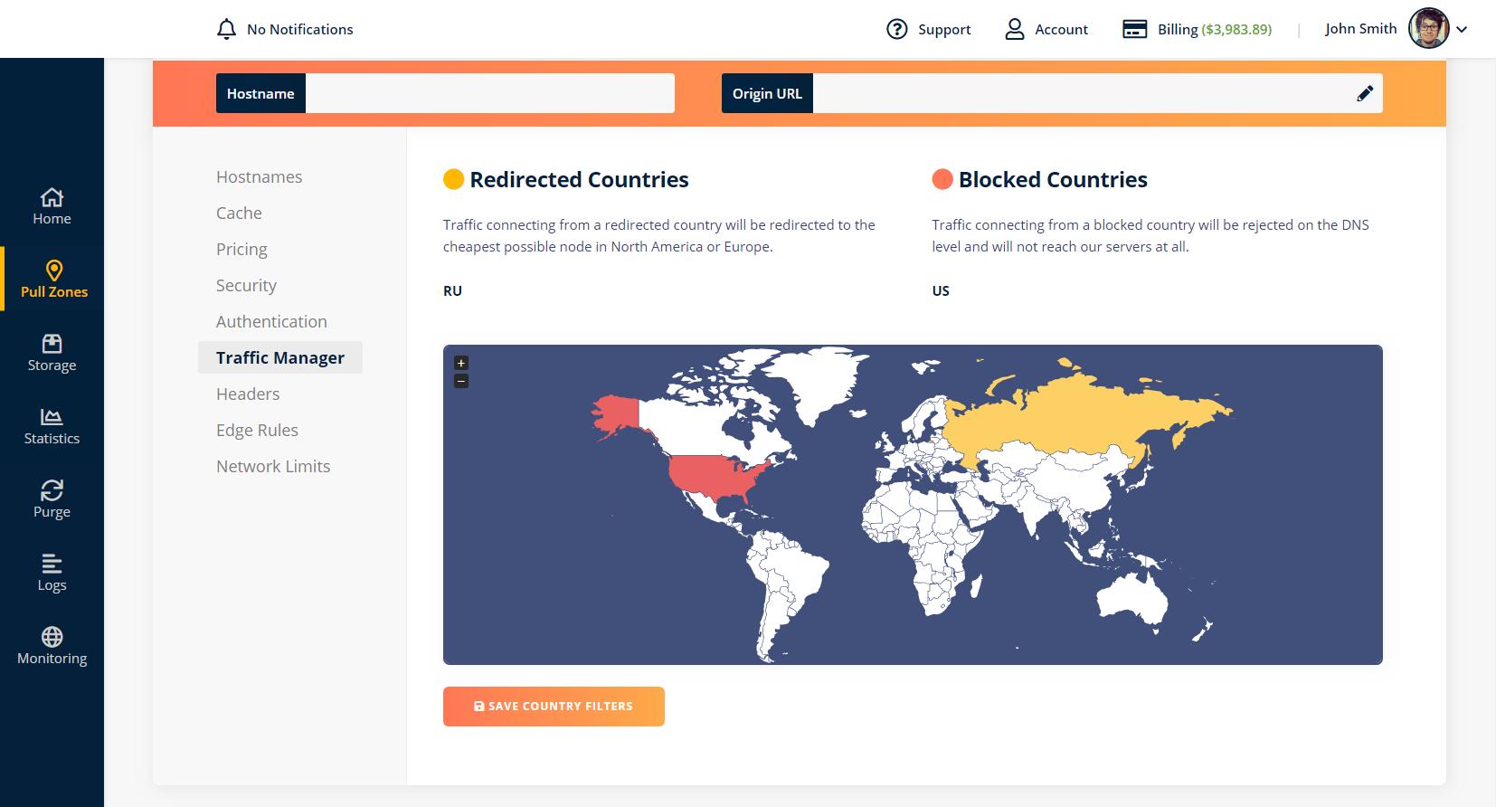 Security Features Screenshot