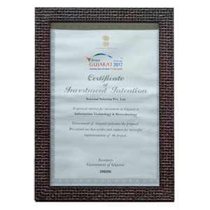 Certificate of Vibrant Gujarat 2017