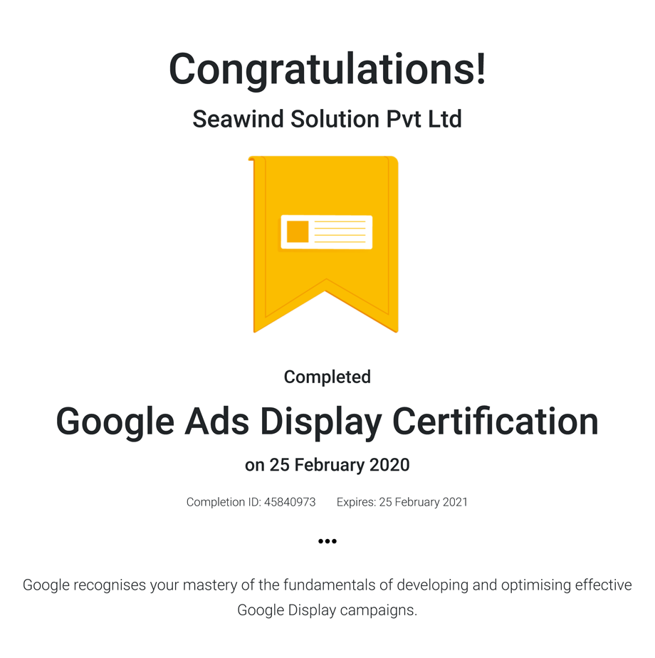 Google Ads Display Certifcation